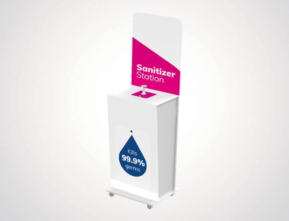 Free standing Pump sanitiser stations